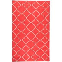 Hand-woven Red Wool Biro Area Rug - 5' x 8'