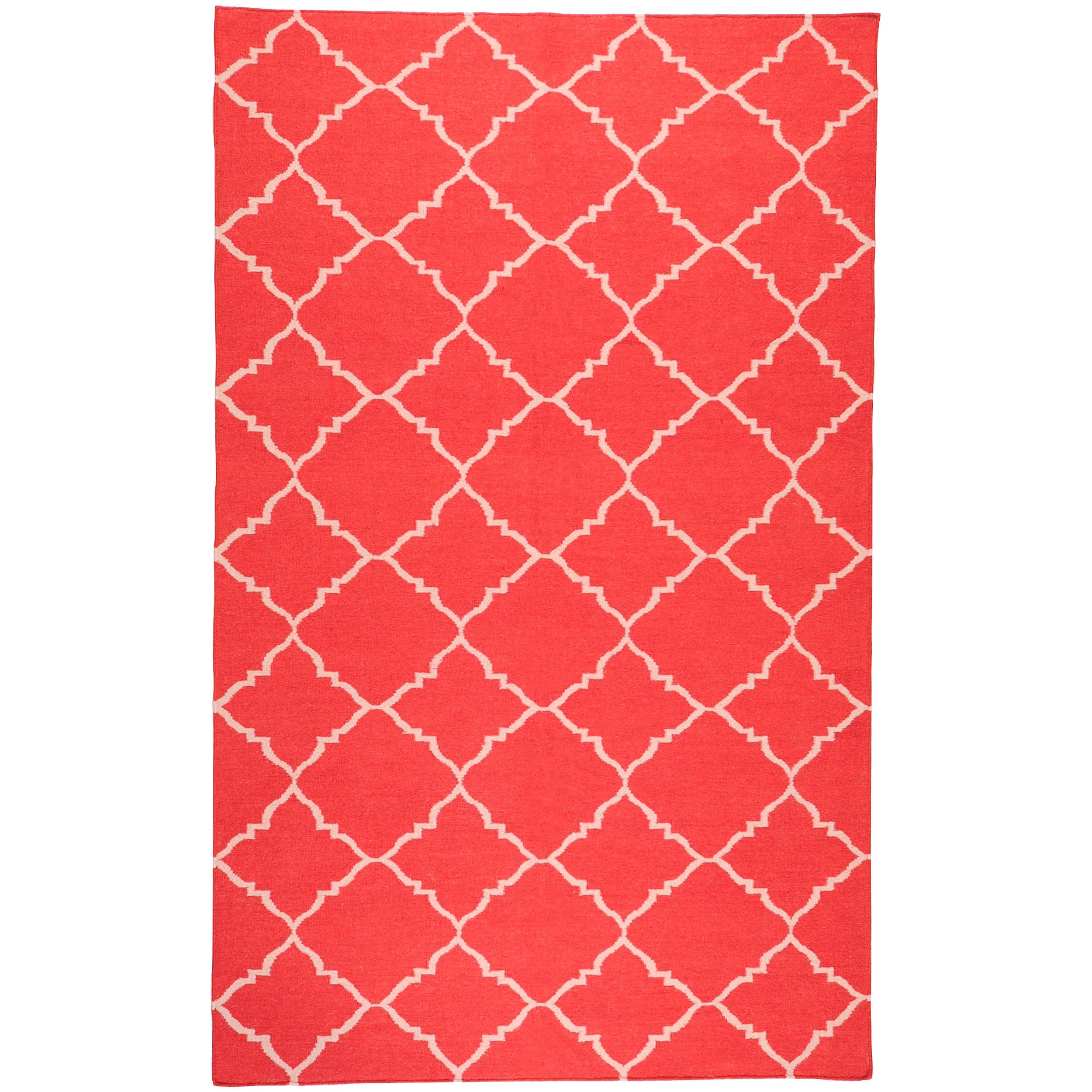 Hand-woven Red Wool Biro Rug (3'6 x 5'6)
