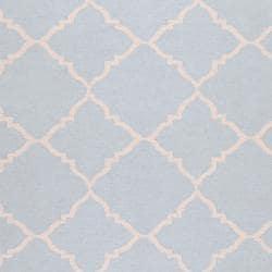 Hand-woven Blue Wool Baylis Rug (8' x 11') - Thumbnail 2