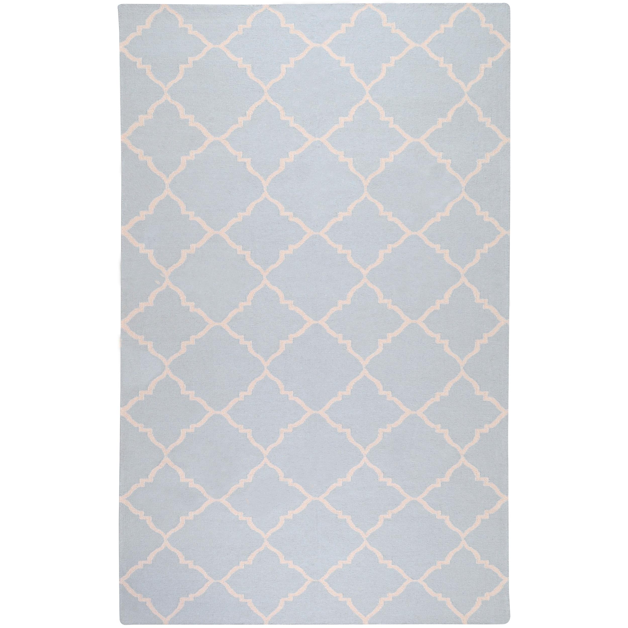 Hand-woven Blue Wool Baylis Rug (5' x 8')
