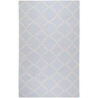 Hand-woven Blue Wool Baylis Area Rug - 5' x 8'/Surplus