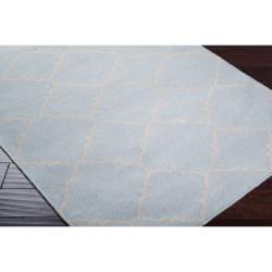 Hand-woven Blue Wool Baylis Rug (3'6 x 5'6) - Thumbnail 1