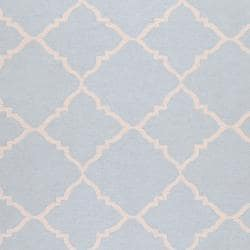 Hand-woven Blue Wool Baylis Rug (3'6 x 5'6) - Thumbnail 2