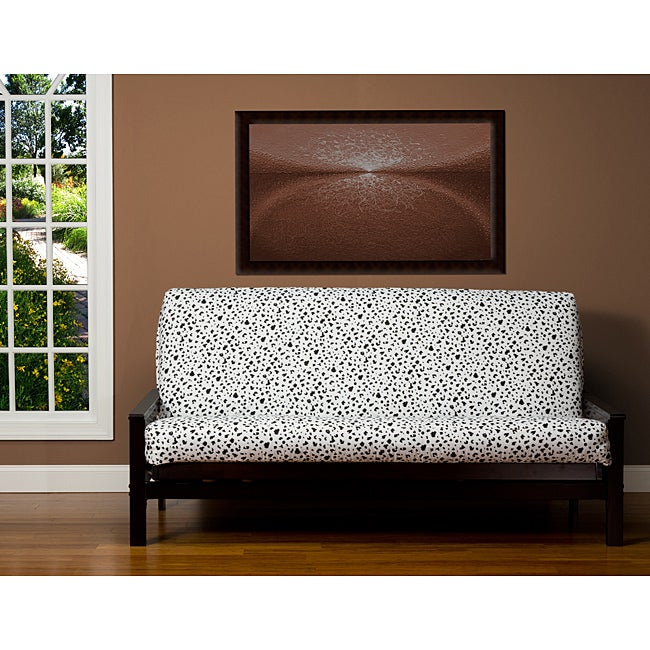Spotted Black And White 7 Inch Deep Full Size Futon Cover