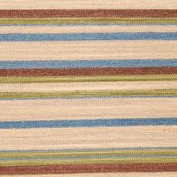 Hand-woven Tan Wool Frontier Rug (3'6 x 5'6)