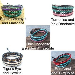 Handmade ChicTriple Wrap Leather Bracelet (Thailand)