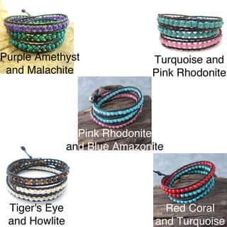 Handmade ChicTriple Wrap Leather Bracelet (Thailand)|https://ak1.ostkcdn.com/images/products/6562103/6562103/ChicTriple-Wrap-Leather-Bracelet-Thailand-P14140344.jpg?impolicy=medium