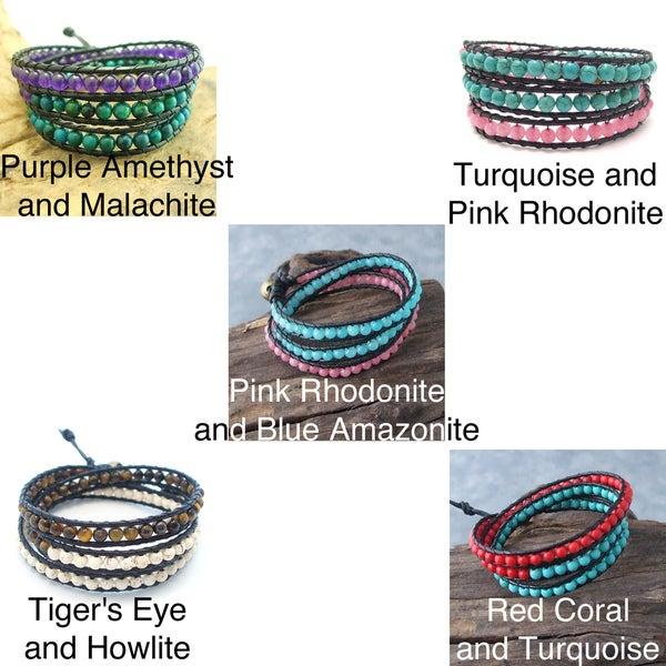 Handmade ChicTriple Wrap Leather Bracelet (Thailand)