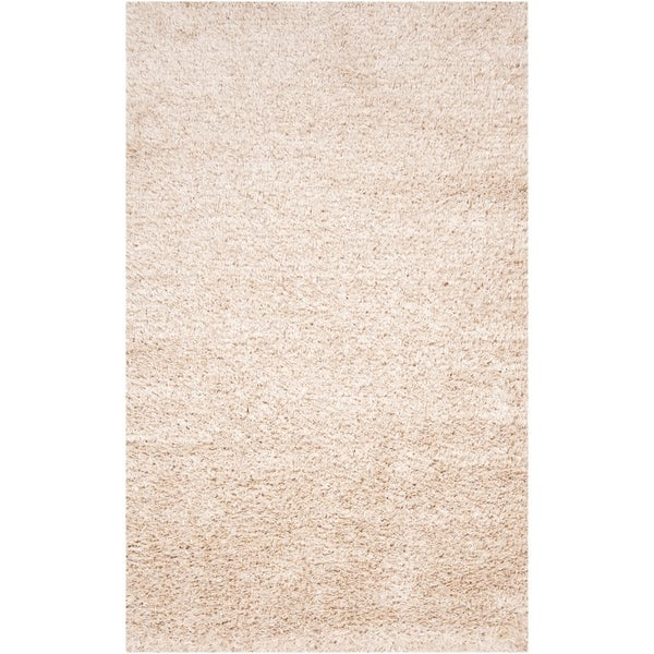 Hand-woven White Logie Area Rug - 8' x 10'