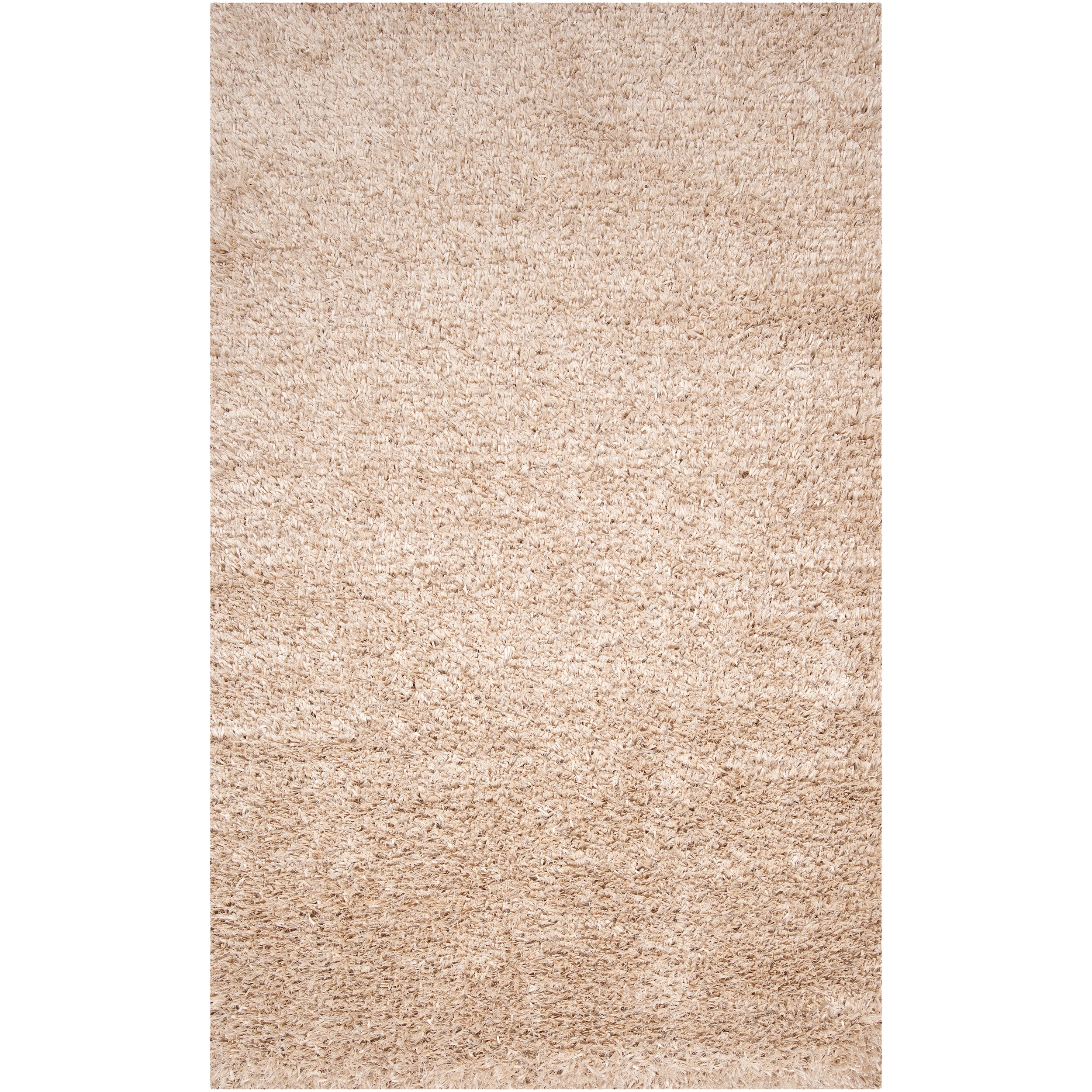 Hand-woven White Polyester Logie Rug (5' x 8')