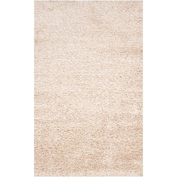 Hand-woven White Logie Area Rug - 5' x 8'