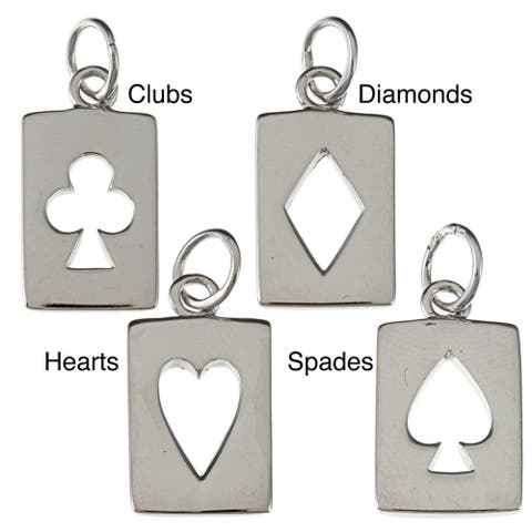 La Preciosa Sterling Silver Cut-out Playing Card Charm