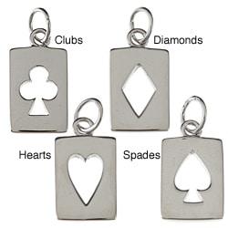 La Preciosa Sterling Silver Cut-out Playing Card Charm