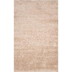 Hand-woven White Polyester Logie Rug (3'6 x 5'6)
