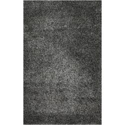 Hand-woven Gray Polyester Babbage Rug (5' x 8')