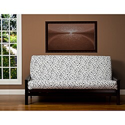 Spotted Black and White Animal Print 6-inch Deep Queen-size Futon Cover