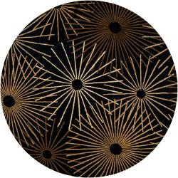 Hand-tufted Brown Contemporary Genrich Wool Abstract Rug (4' Round)