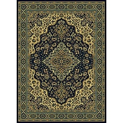 "Admire Home Living Traditional Caroline Navy Area Rug - 5'5"" x 7'7"" - Thumbnail 0"