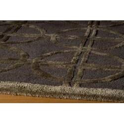 Hand-tufted Shimmer Circles Brown Rug (5' x 8') - Thumbnail 1