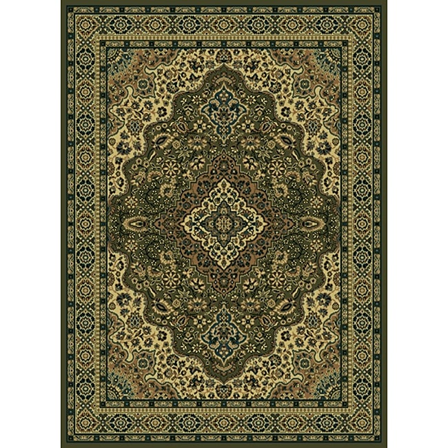 "Admire Home Living Traditional Caroline Sage Area Rug (7'9 x 11') - 7'9"" x 11'"