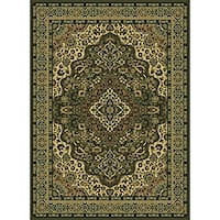"Traditional Caroline Sage Area Rug - 7'9"" x 11'"