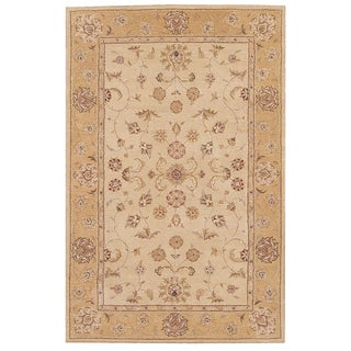 Nourison Hand-tufted Heritage Hall Beige Wool Rug (3'9 x 5'9)