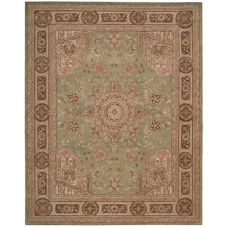 Nourison Hand-tufted Heritage Hall Green Wool Rug (3'9 x 5'9)