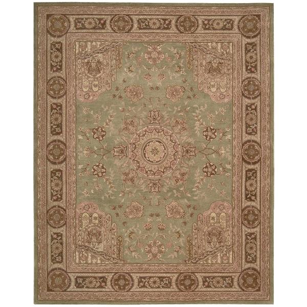 "Nourison Hand-tufted Heritage Hall Green Wool Rug - 3'9"" x 5'9"""