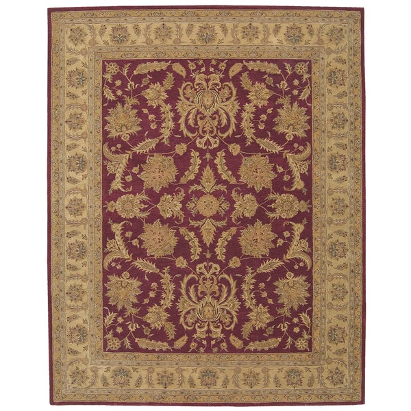 Nourison Hand-tufted Heritage Hall Burgundy Wool Rug (3'9 x 5'9)