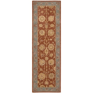 Nourison Hand-tufted Heritage Hall Brick Wool Rug (2'6 x 12')
