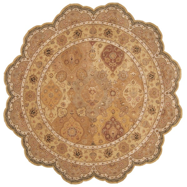 Nourison Hand-tufted Heritage Hall Multi Rug (6' x 6') Free Form