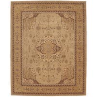"Nourison Hand-Tufted Heritage Hall Persian-Inspired Gold Wool Rug (5'6 x 8'6) - 5'6"" x 8'6"""