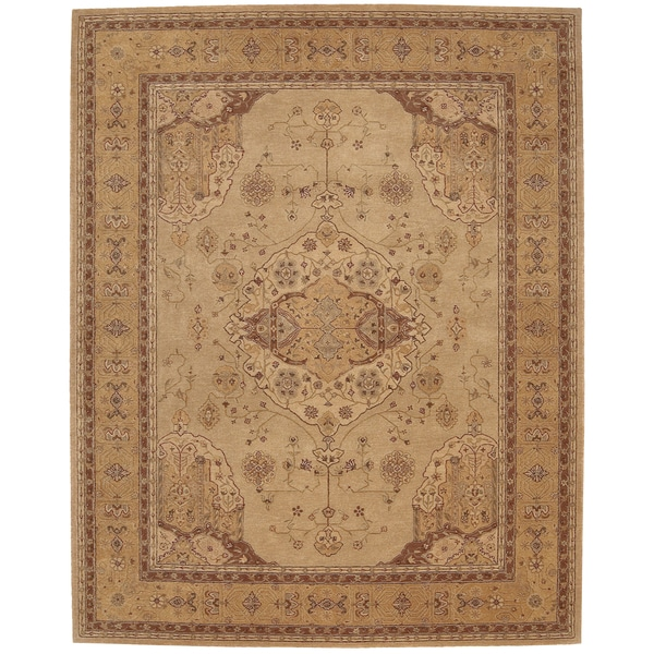 "Nourison Hand-Tufted Heritage Hall Persian-Inspired Gold Wool Rug - 5'6"" x 8'6"""