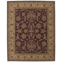 "Nourison Hand-Tufted Heritage Hall Traditional Burgundy Wool Rug (5'6"" x 8'6"")"