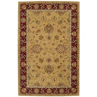 "Nourison Hand-tufted Heritage Hall Gold Wool Rug - 5'6"" x 8'6"""