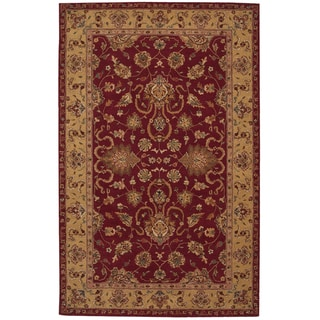 Nourison Hand-tufted Heritage Hall Burgundy Wool Rug (5'6 x 8'6)