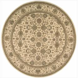 Nourison Hand-tufted Heritage Hall Ivory Rug (9 x 9) Round