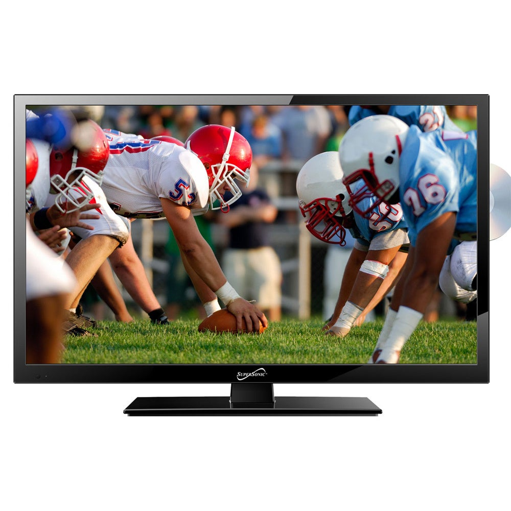 Supersonic SC-2412 24-inch 1080p LED TV/ DVD Player, Size...