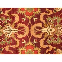 Hand Knotted Maharaja Finest Red Wool Rug (6' x 9') - Thumbnail 1