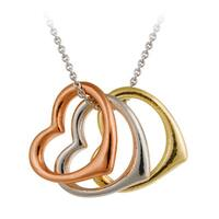 Mondevio Sterling Silver Open Heart Necklace