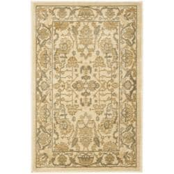 Safavieh Oushak Cream/ Cream Powerloomed Rug (2'6 x 4')