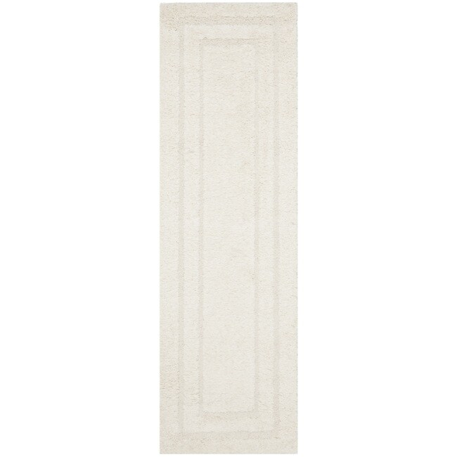 Safavieh Shadow Box Ultimate Cream Shag Rug (2'3 x 7')