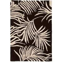 Safavieh Handmade Soho Fern Brown New Zealand Wool Rug - 2' X 3'