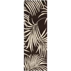 Safavieh Handmade Soho Fern Brown New Zealand Wool Rug (2'6 x 8')