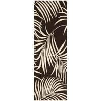 "Safavieh Handmade Soho Fern Brown New Zealand Wool Rug - 2'6"" x 8'"