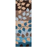 "Safavieh Handmade Soho Garden Brown New Zealand Wool Rug - 2'6"" x 8'"