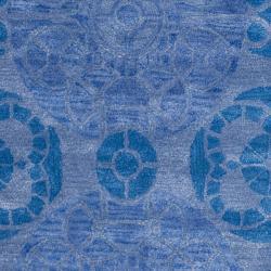 Safavieh Handmade Chatham Treasures Blue New Zealand Wool Rug (4' x 6') - Thumbnail 2