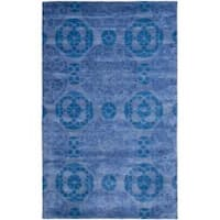Safavieh Handmade Chatham Treasures Blue New Zealand Wool Rug - 8' x 10'