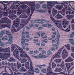 Safavieh Handmade Chatham Treasures Purple New Zealand Wool Rug (5' x 8') - Thumbnail 1