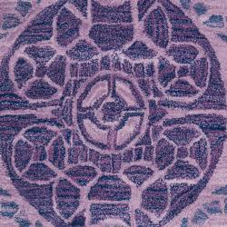 Safavieh Handmade Chatham Treasures Purple New Zealand Wool Rug (5' x 8') - Thumbnail 2